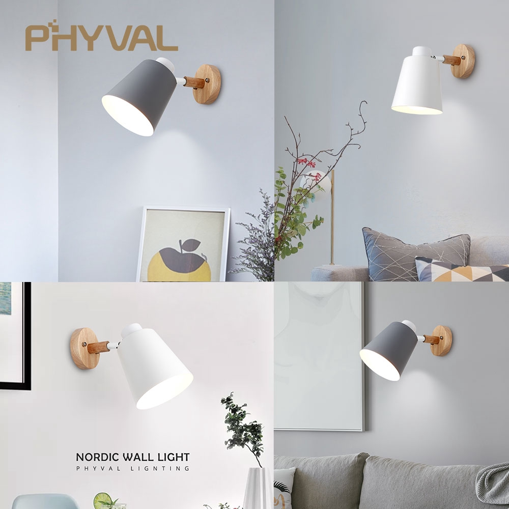 premium selection e91df 185b1 bedside wall sconce modern wall lights for bedroom Nordic steering head