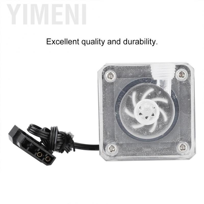 DC 12V 0.8A 10W Water Pump for PC Water Cooling Motor Brushless 3-pin Plug GL