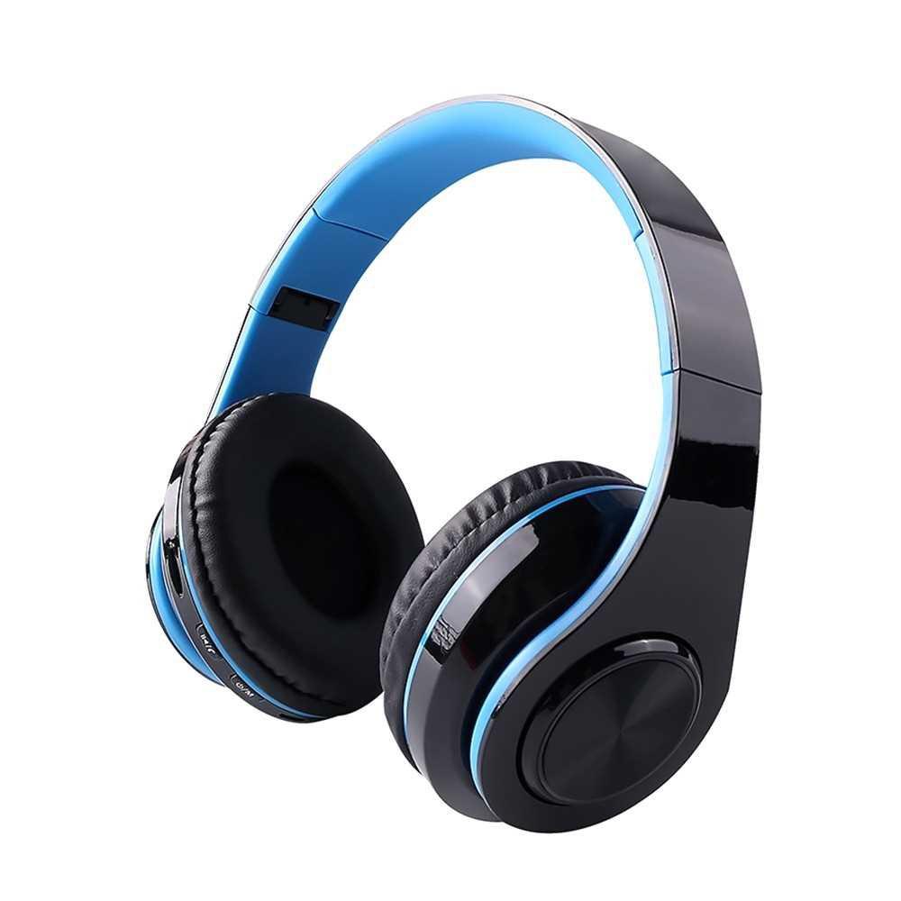 B39 RGB Luminous Wireless BT 5.0 Gaming Headset Stereo Headphone Foldablet Earphone Headphone Mic (Blue)