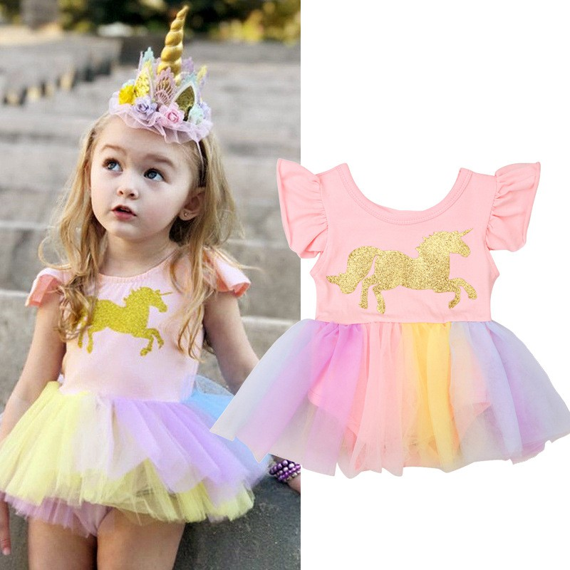 New Unicorn and Ruffle Shorts Toddler Baby Girl Boutique Outfit Purple Unicorns
