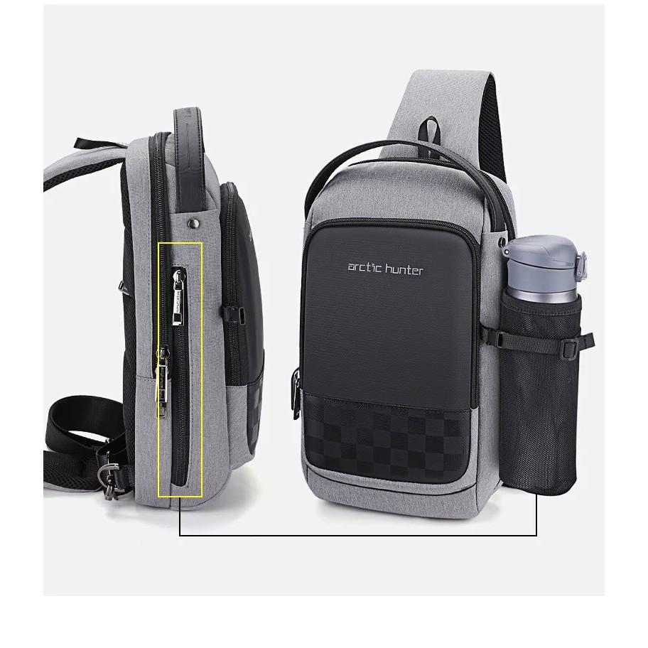Arctic Hunter Men i-Vuitton USB Charging Water Resistant Crossbody Messenger Bag