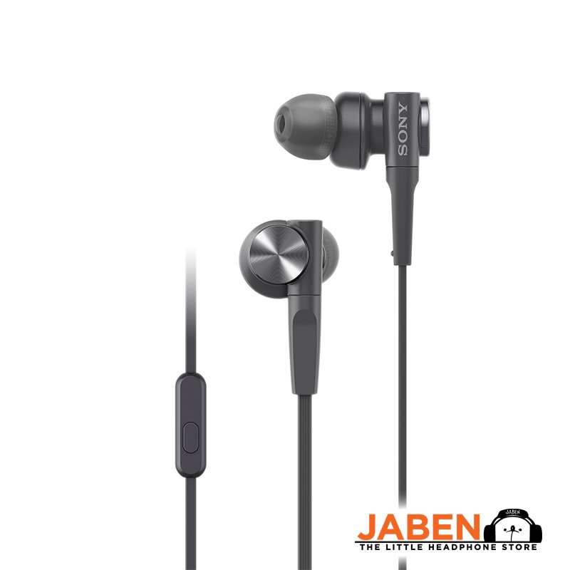 Sony MDR-XB55AP Extra Bass Flat Tangle Free Cable with In-line Mic Wired In-Ear Earphones [Jaben]