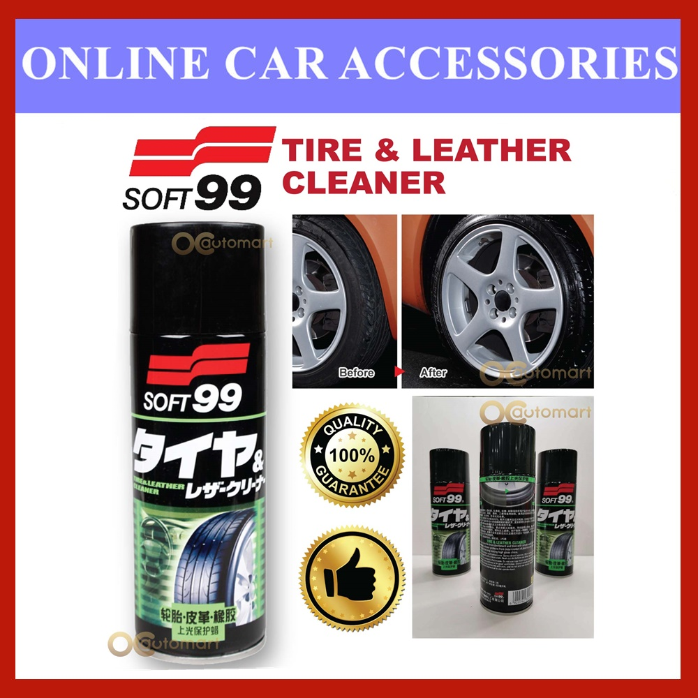 (Free Gift) Soft99 / Soft 99 Leather / Rubber / Tire Spray Wax 420ml