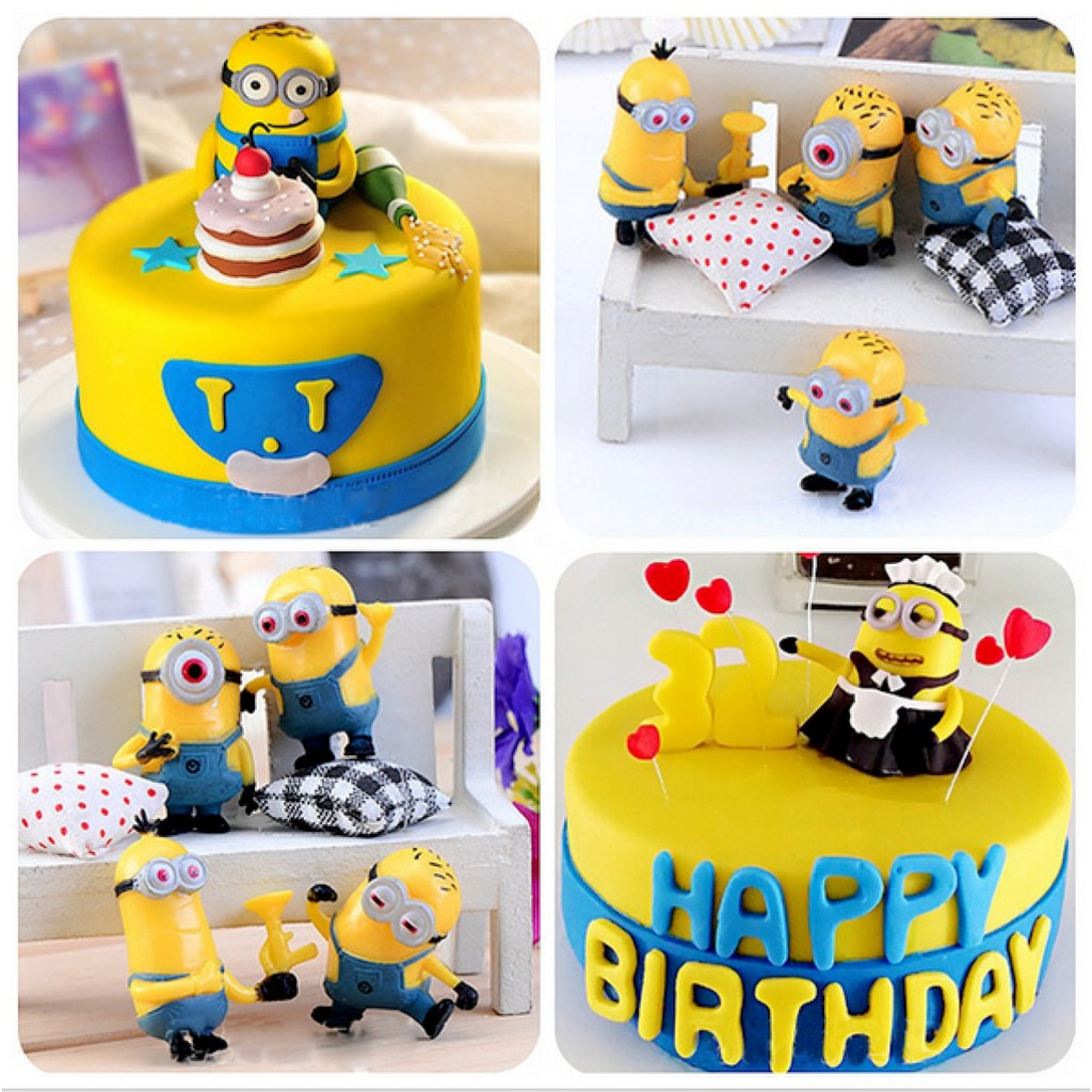 Pleasant Bt0410 Minion Cake Topper Decoration 1Pcs Shopee Malaysia Personalised Birthday Cards Cominlily Jamesorg