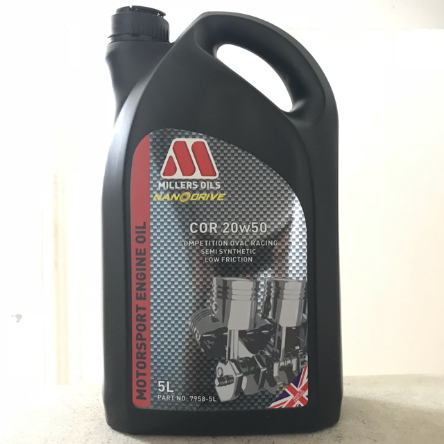 Millers Oils COR 20W-50 5 Liters Semi Synthetic Racing Engine Oil