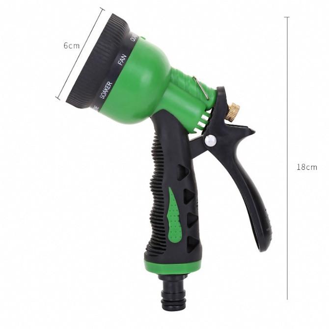 8 Pattern Water Spray Gun Garden Hose Water Pressure Sprayer Gun Nozzle Hose Nozzle Adjustable Sprinkler Head Car Washin