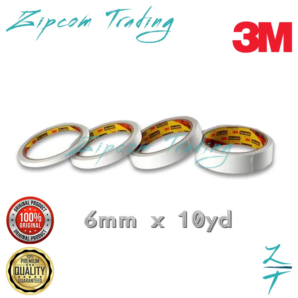 3M Scotch 200 Double-Sided Tissue Tape (6mm , 12mm ,18mm , 24mm)