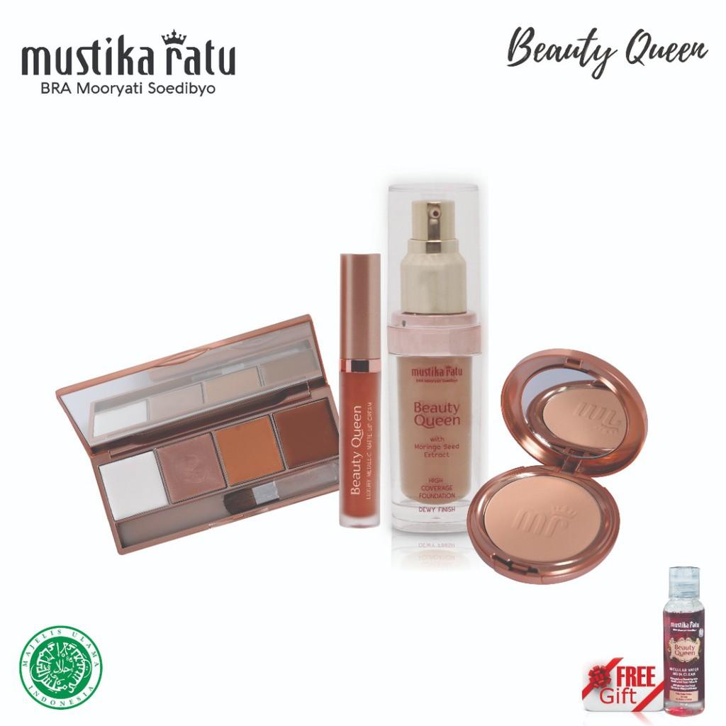 Mustika Ratu Beauty Queen Contour Make Up Set FREE Micellar Water