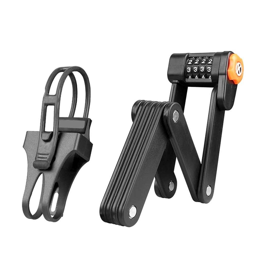 Portable Bike Folding Password Lock Safety Anti-theft Alloy Steel Bicycles 4 Dial Digital Secret Code Combination Locks