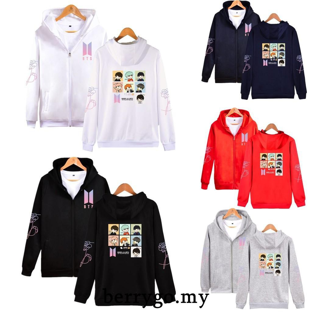 BTS In Bloom Sweater Hoodie Unisex Jung Kook Bangtan Boys Sweatershirt Kpop New
