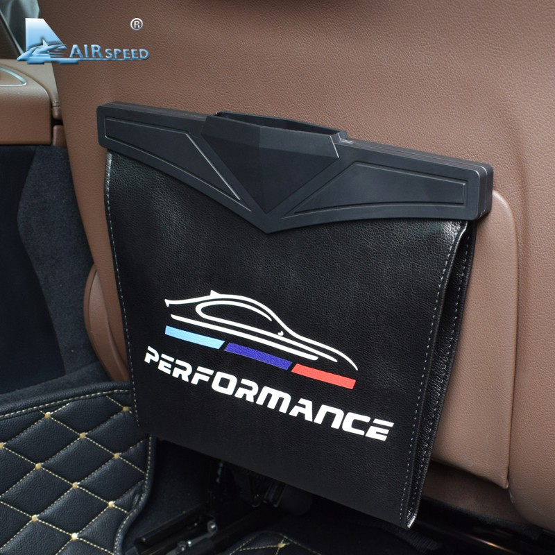 AIRSPEED Car Tissue Box Holder Portable Seat Headrest Hanging Storage Case for BMW Accessories