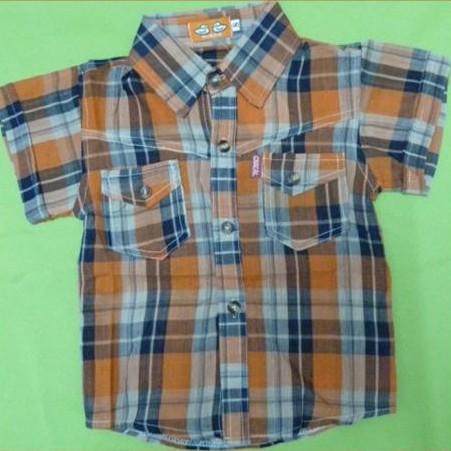 Short Sleeve Checker Shirt for little boy
