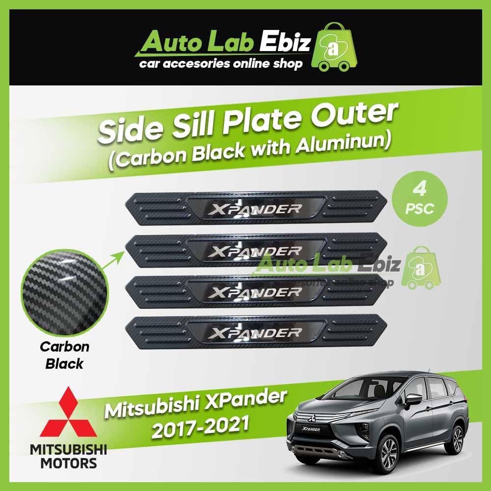 Mitsubishi XPander 2017-2021 Side Sill Plate Outer Aluminum (Carbon Black) (4pcs/set)