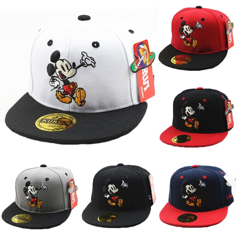 Kids Boy Girl Mickey Mouse Baseball Cap Hip-Hop Sport Toddlers Snapbacks Sun Hat