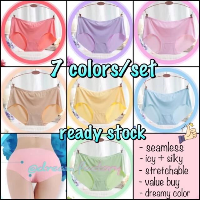 aff1ffae29e2 Women's Panties Ice Silk Cool Refreshing Seamless Underwear Triangle Briefs  | Shopee Malaysia