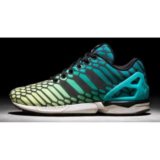 low priced ed49f 78e10 Adidas Zx Flux Green Yellow Xeno