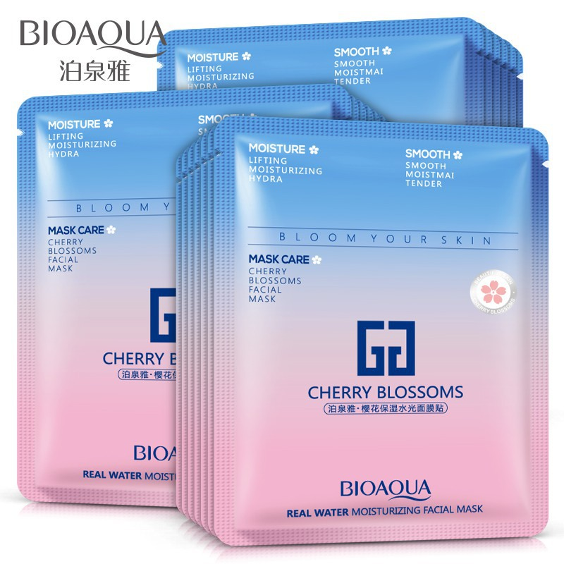 e3f8597933 BIOAQUA 10pcs/box Cherry Blossoms Mask Oil Control Mask Face Care