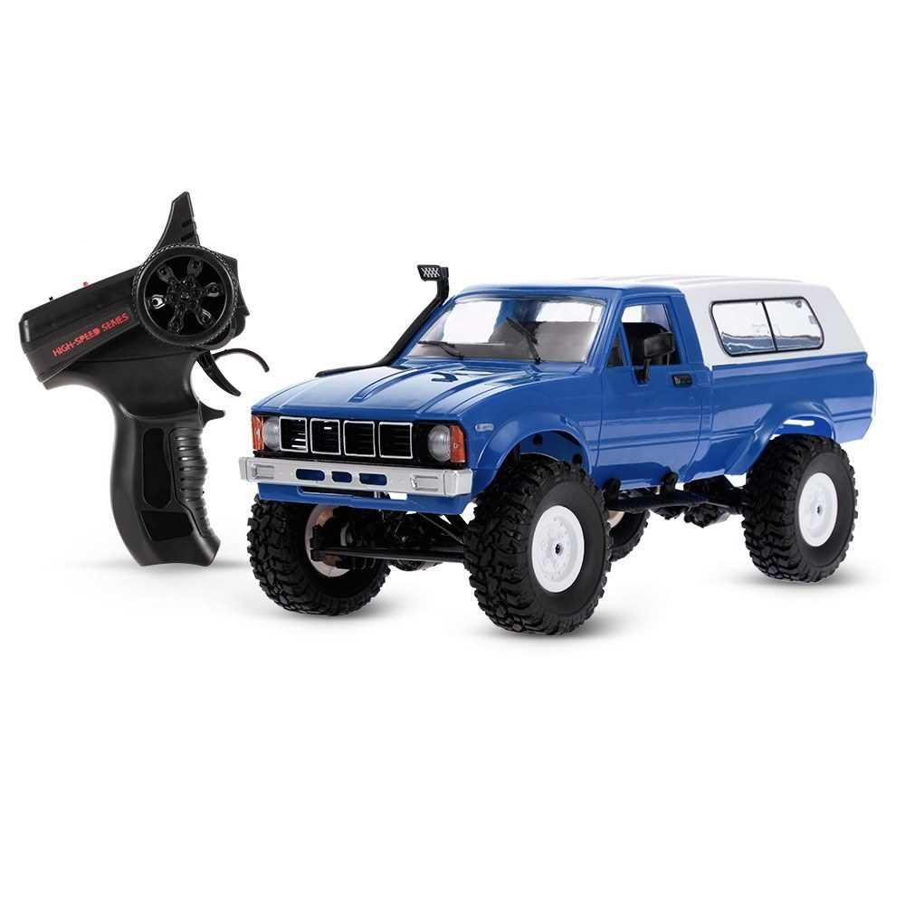 WPL C-24 2.4G 4WD 1:16 Off Road Rock Crawler with Front LED RC Car RTR (Blue)