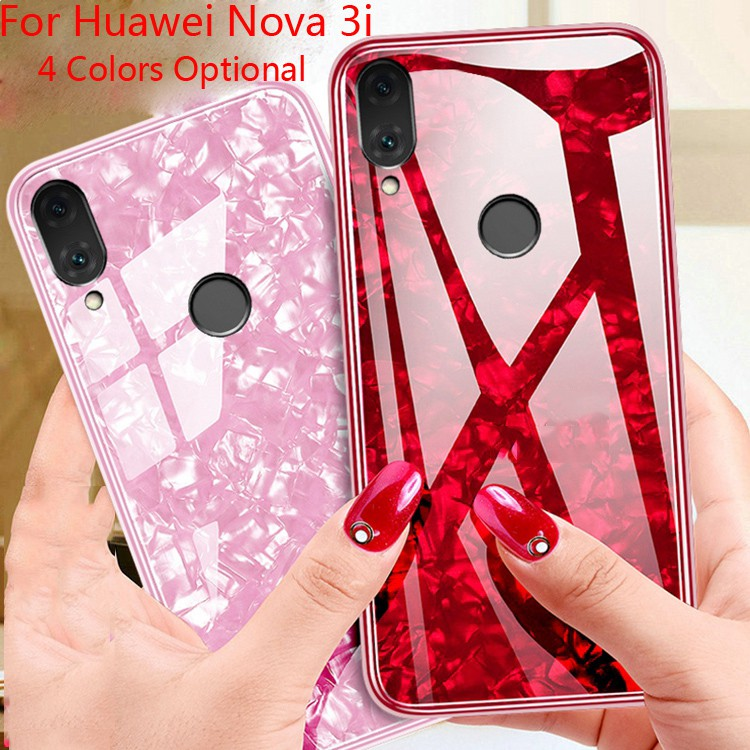 the best attitude c5abc 267ff For Huawei Nova 3i Fariy Shells Tempered Glass+TPU Backcover Protective Case