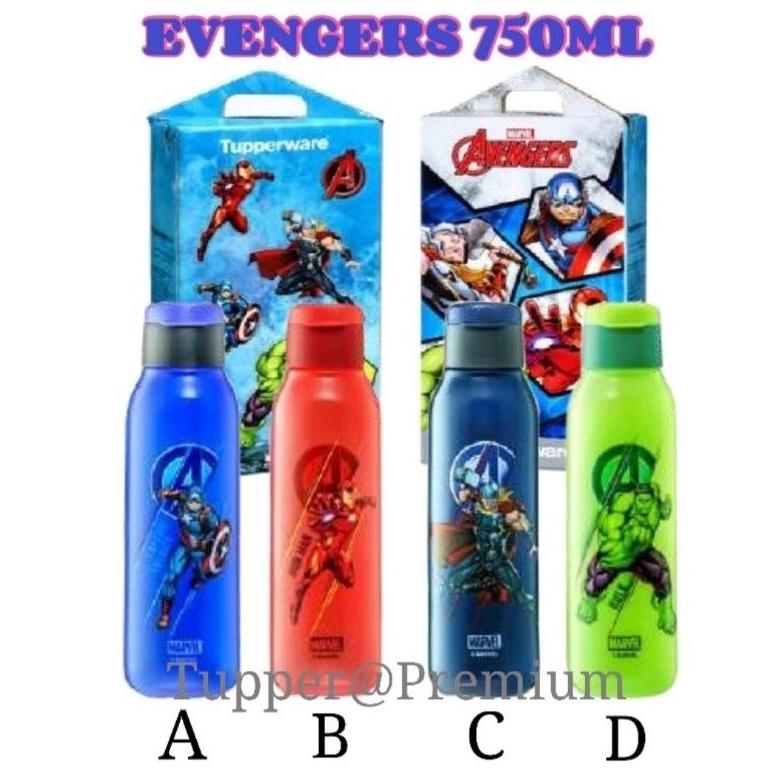 (💥READY STOCK💥)Tupperware Avengers Eco Bottle Set(2pcs) 750ml