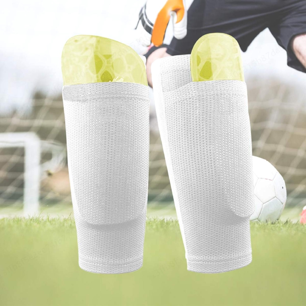 04bee81cc93bb Shin Guard The Cheapest Price 1 Pair Nylon Soccer Football Protective Socks  Shin Pads Protector Supporting Shin Guard Stretchable Wear Resistance With  ...