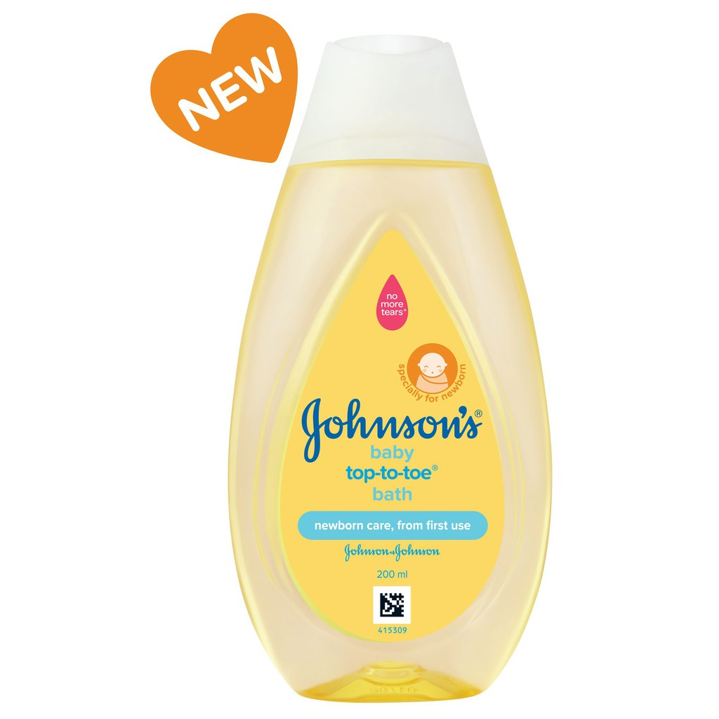 Johnson\'s Top To Toe Baby Wash 200ml (For hair & body)