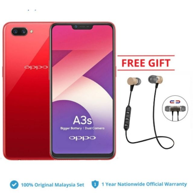 Oppo A3s Bigger Battery 3ram 32gb
