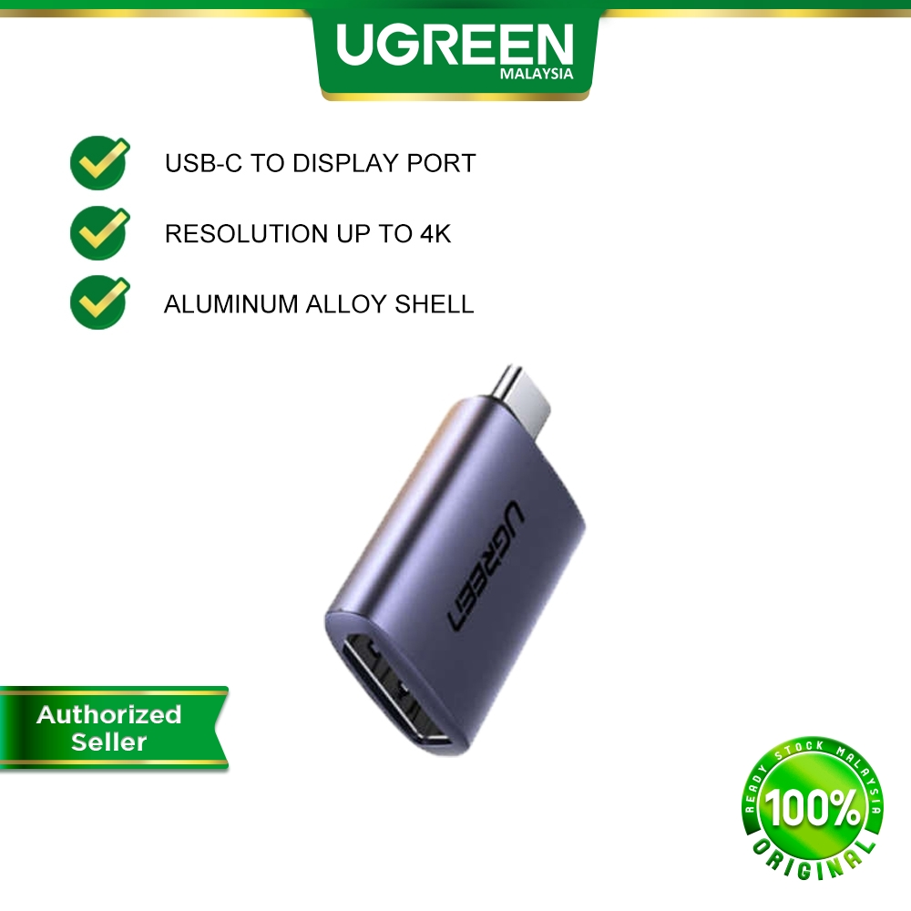 UGREEN USB C to Display Port 4K x 2K 60Hz Cable USB TypeC to DP Female Adapter Support HPD For MacBook Pro Samsung S20