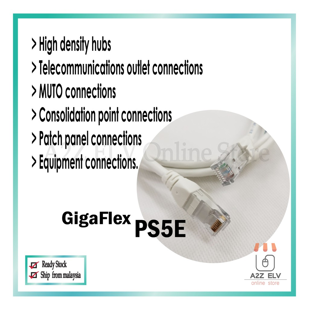 BELDEN GigaFlex PS5E Cable with 2 Meter
