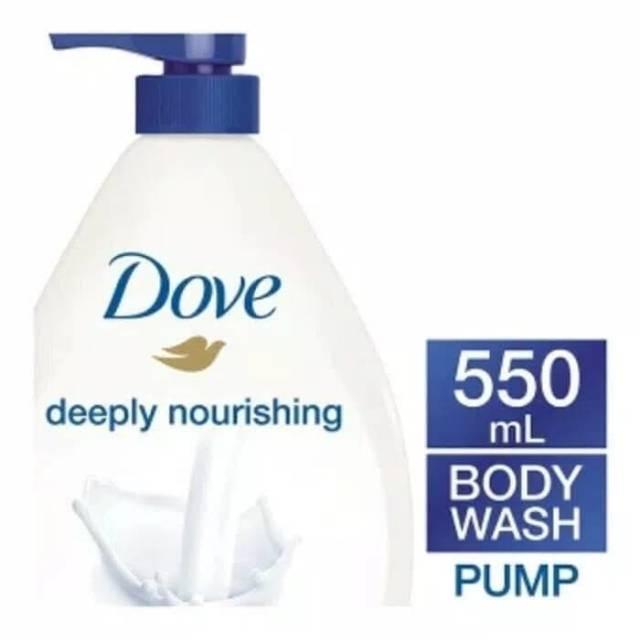 Dove Body Wash 550 Ml Deeply Nourishing Bodywash Liquid Soap Bottle Dove Pump Ori Dove Liquid Soap Shopee Malaysia