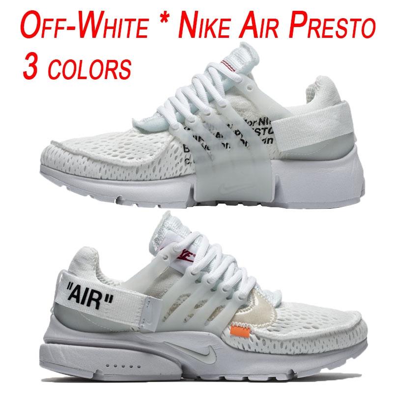 358a0b59c61f4c Ready stock  Nike shoes original NIKE x OFF-WHITE AIR PRESTO running shoes  White