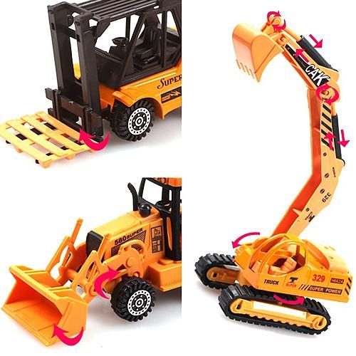 1:64 Die cast Construction Vehicle Truck Excavator Digger Forklift Toys For Boys