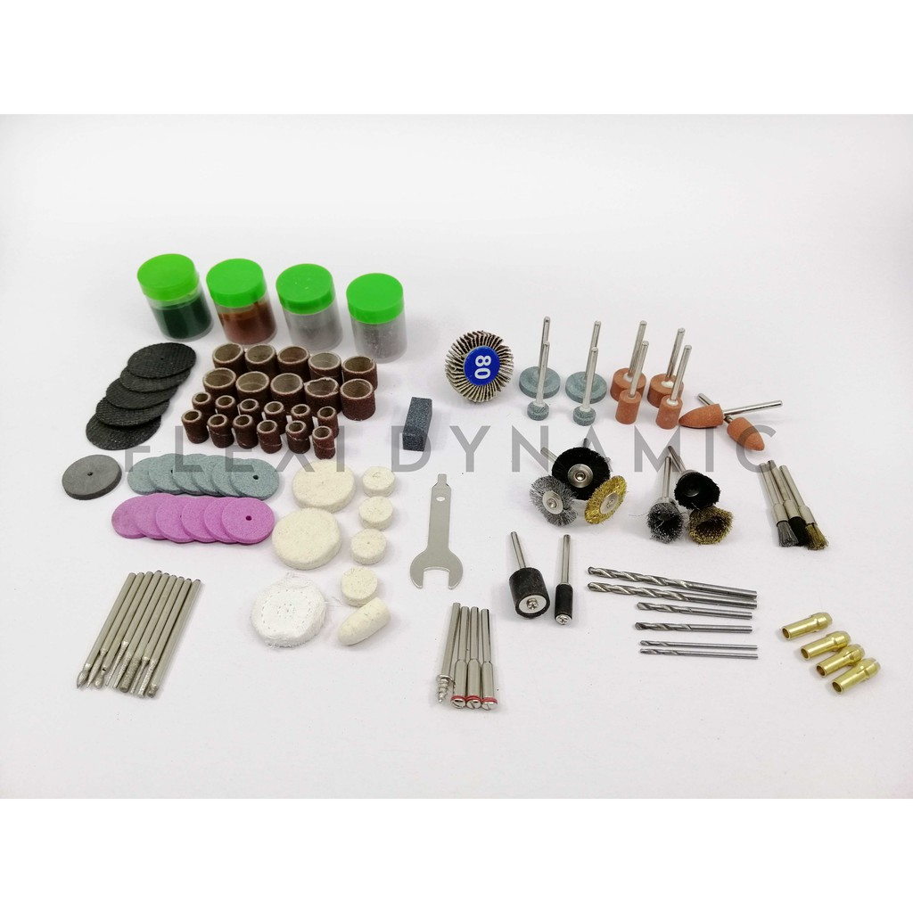 (Local Seller) 161Pcs Mini Drill Multi Rotary Tool Accessories Set Grinding Polishing Kits Shank Sanding Polish