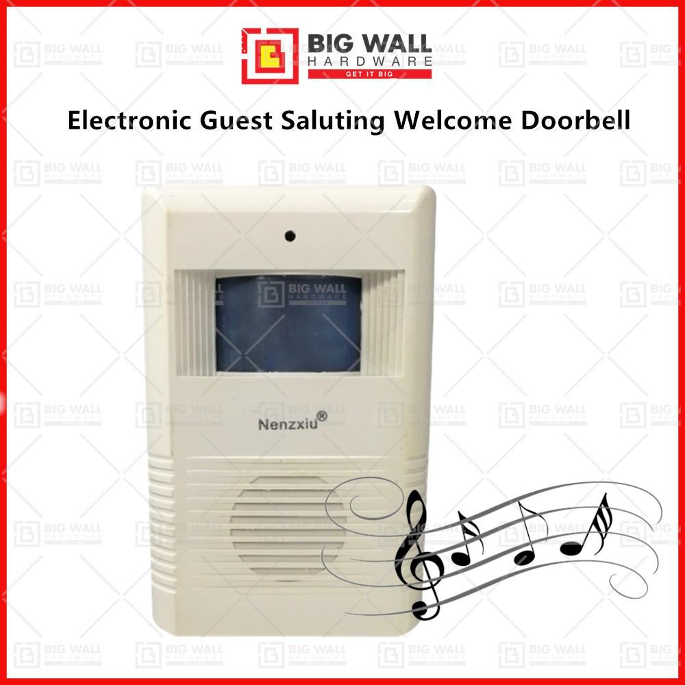 Electronic Guest Saluting Welcome Doorbell Human Body Induction Infrared Sensor Alarm Door Entry Greeting