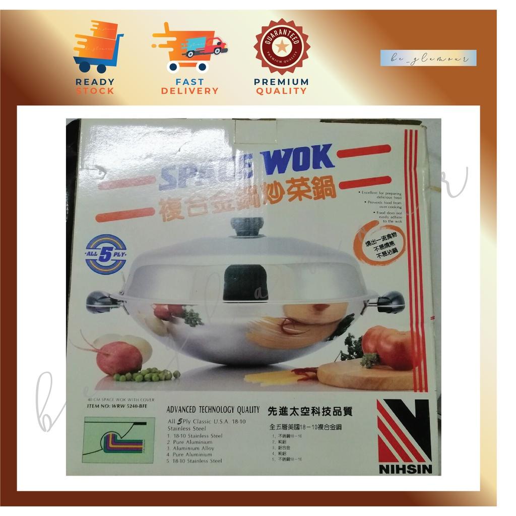 🐮Buffalo Space Wok - 40cm / 🐮 牛头牌不锈钢太空炒锅 40cm 💥⚡️READY STOCK⚡️