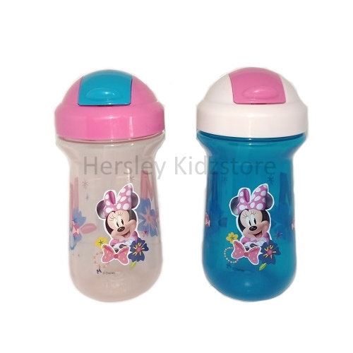 The First Years Baby Minnie Mouse Flip Top Straw Cup 10 Oz 1 Pack Dishwasher Saf