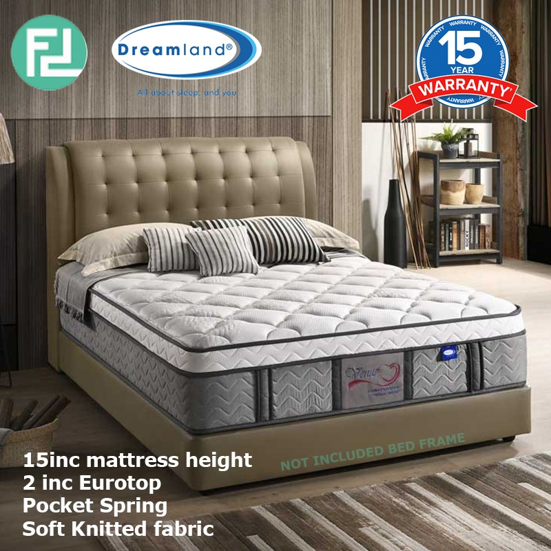 DREAMLAND 15″ VENUS pocket spring latex mattress- 2 sizes