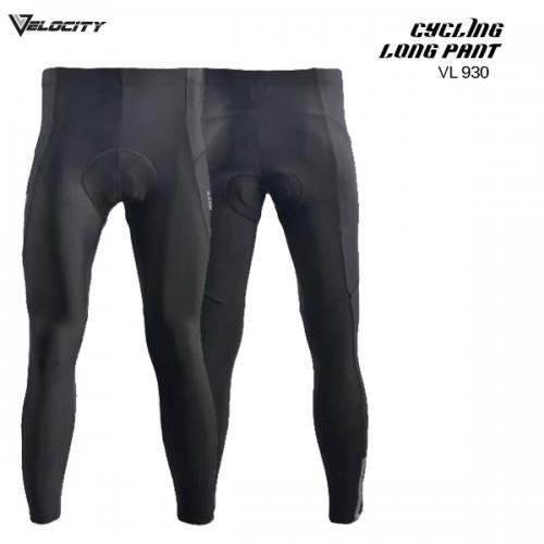 VL 930 Cycling Long Pant Gel Pad Black