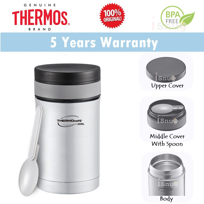 Thermos Thermocafe Basic Living Food Jar with Spoon 350ml or 500ml