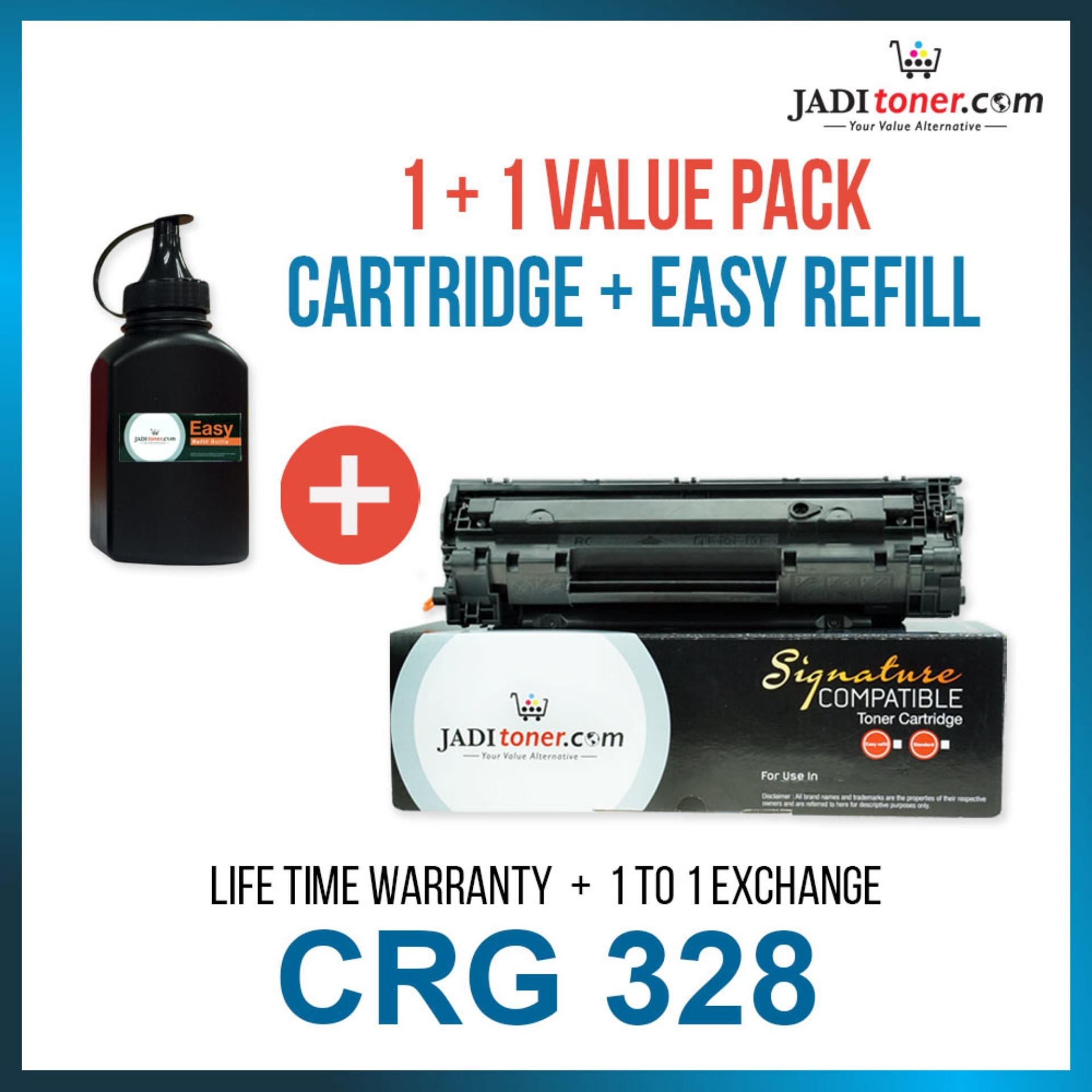 [1+1 Value Pack] Compatible CRG328 CRG 328 Cartridge 328 with 1 Refill Toner Laser Toner Cartridge
