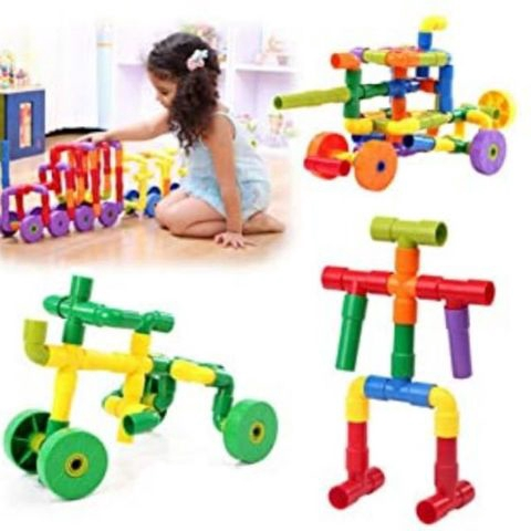 Mengchi Multicolored Puzzle Blocks Building Toy for Kids