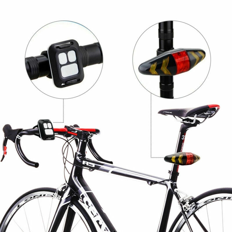/<UNIVERSAL FIT TO ANY BICYCLE/> Remote Control Turn Signals Light Rechargeable