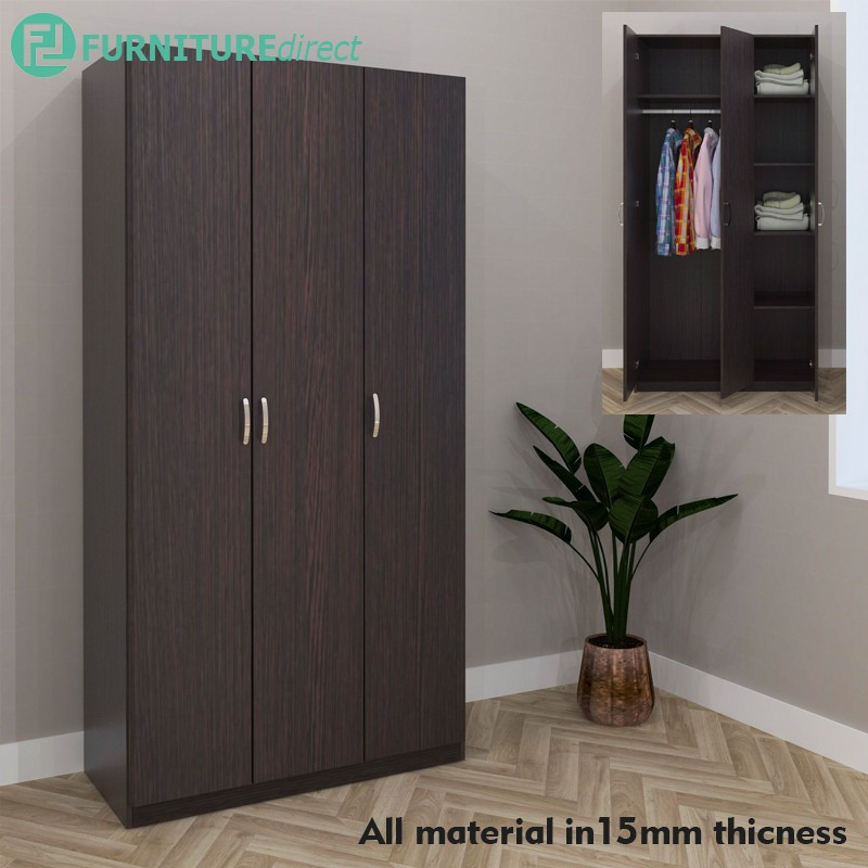 Furniture Direct wardrobe 3 Door / almari baju/pakaian kain/...