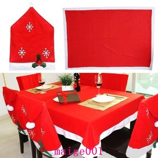 Christmas Chair Back Covers.Christmas Chair Cover Dinner Table Party Red Hat Chair Back Covers Christmas Hom