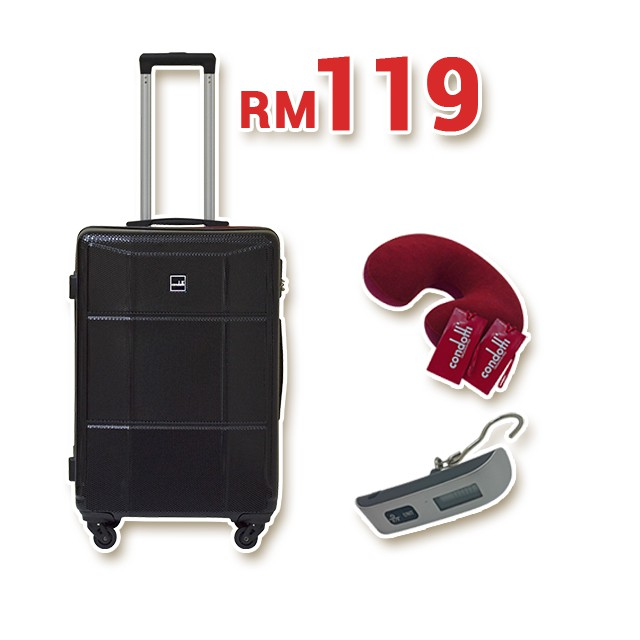 "Condotti 20"" ABS Hard Case with Security Backpack [ VD7-0270H 20BP ]"