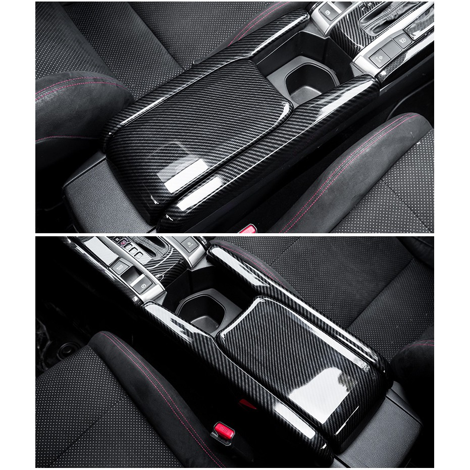 Honda civic carbon arm rest cover