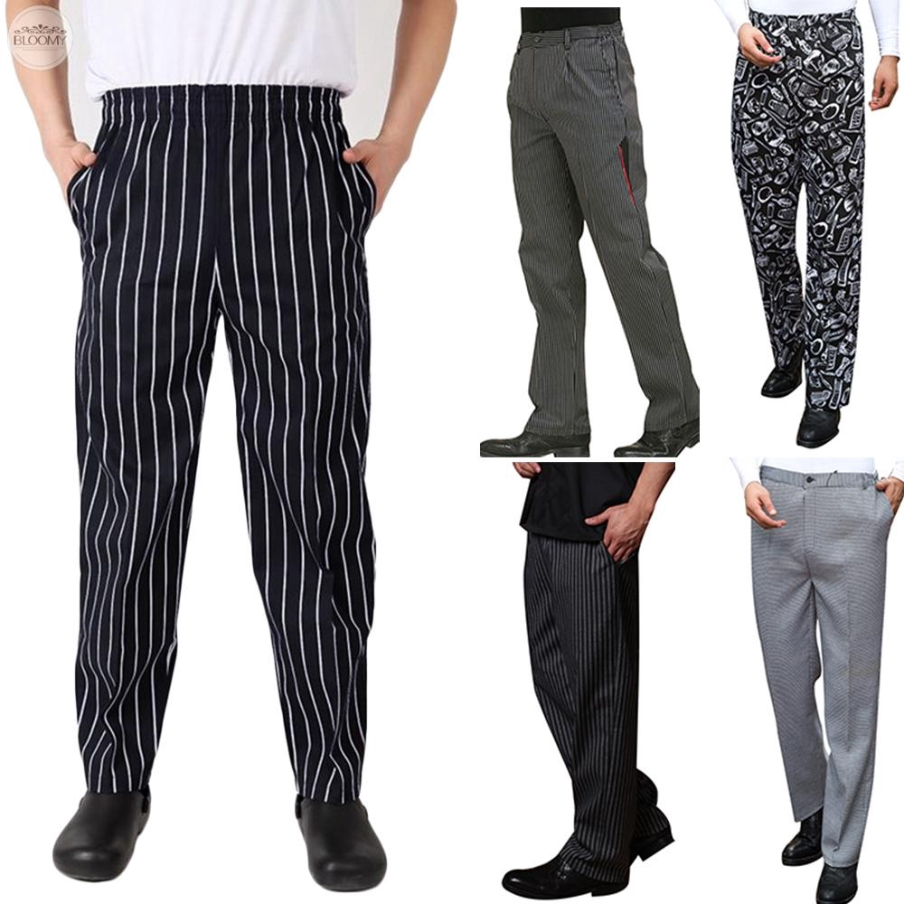 592e1454763c46 Unisex Chef Work Pants Kitchen Baggy Trousers Restaurant Staff Uniform  Slacks | Shopee Malaysia