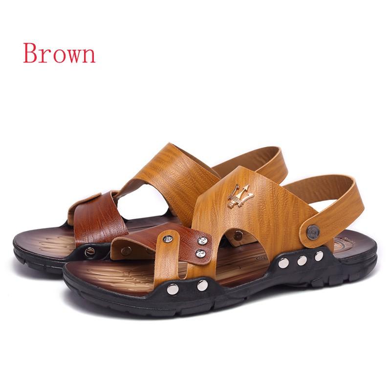 ef4efc46f Summer Men s Sandals Leather Sandal Outdoor Beach Shoes