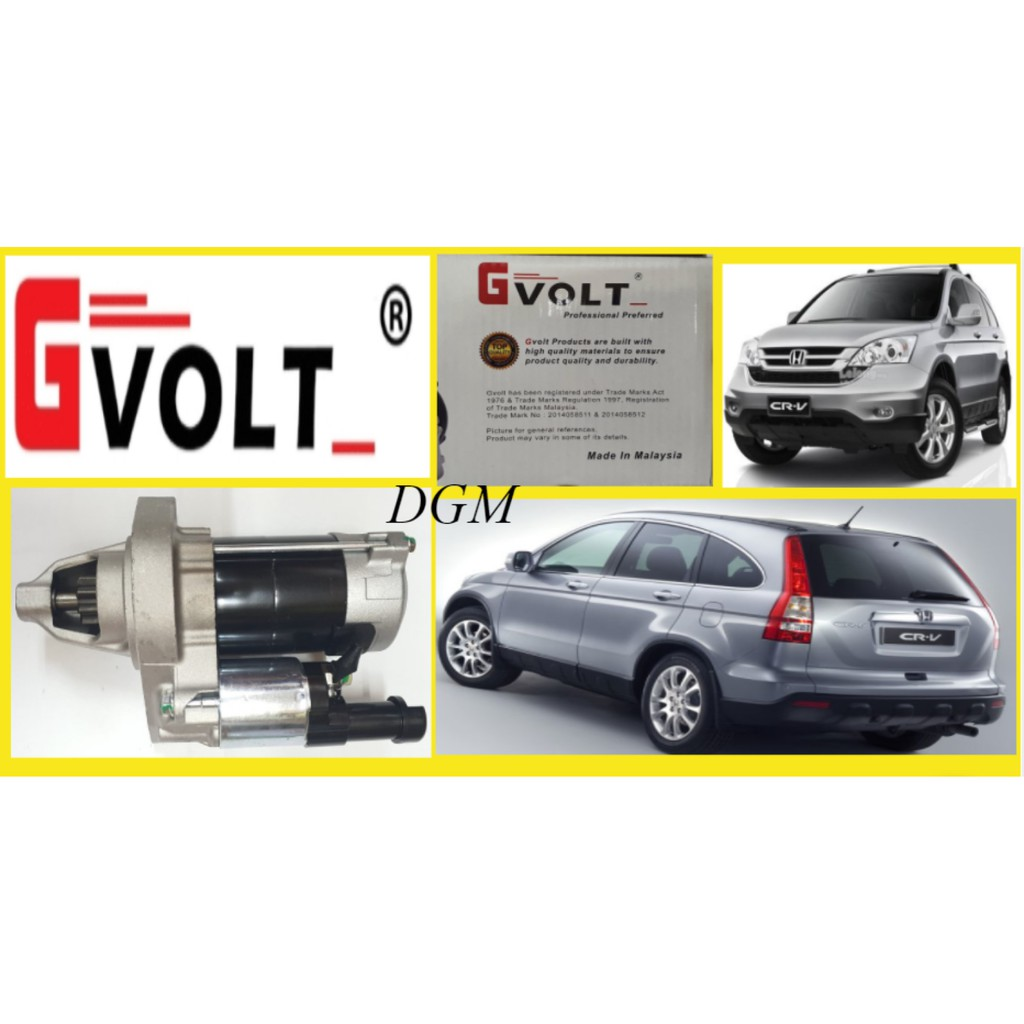 G-VOLT Honda CRV SWA 2.0/2.4 2007-2012Y Starter Motor Assy (100% New) 6Months Warranty