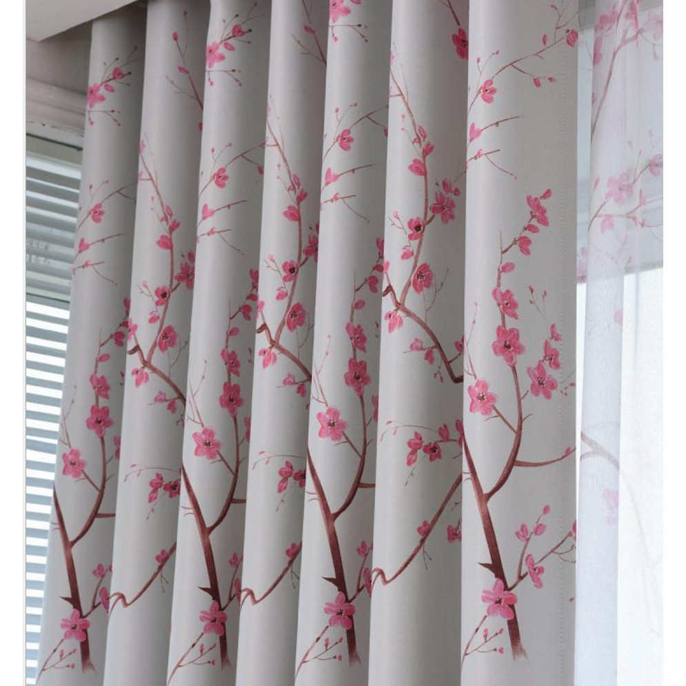 Floral Blackout Kitchen Curtain Design Panel Door Window